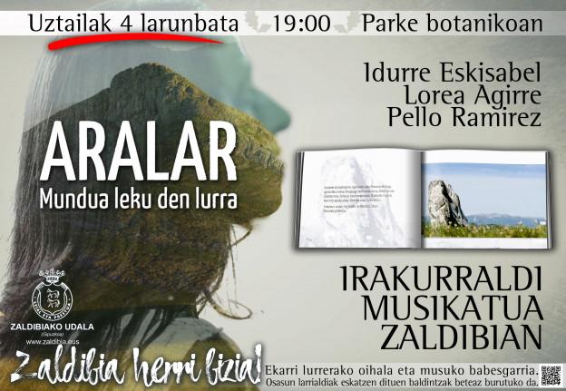 """Larunbatean izango da """"Aralar, mundua leku den lurra"""" liburuaren irakurraldi musikatua"""